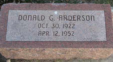 ANDERSON, DONALD G. - Burt County, Nebraska | DONALD G. ANDERSON - Nebraska Gravestone Photos