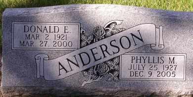 ANDERSON, DONALD E. - Burt County, Nebraska | DONALD E. ANDERSON - Nebraska Gravestone Photos