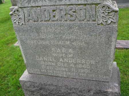 ANDERSON, DANIEL A. - Burt County, Nebraska | DANIEL A. ANDERSON - Nebraska Gravestone Photos