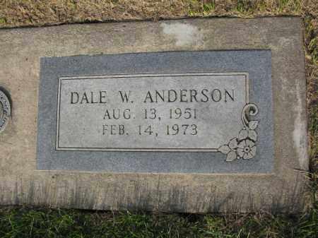 ANDERSON, DALE W. - Burt County, Nebraska | DALE W. ANDERSON - Nebraska Gravestone Photos