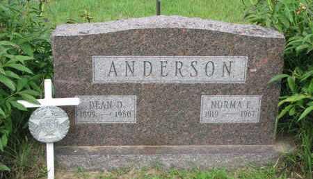 ANDERSON, DEAN D. - Burt County, Nebraska | DEAN D. ANDERSON - Nebraska Gravestone Photos