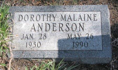ANDERSON, DOROTHY MALAINE - Burt County, Nebraska | DOROTHY MALAINE ANDERSON - Nebraska Gravestone Photos