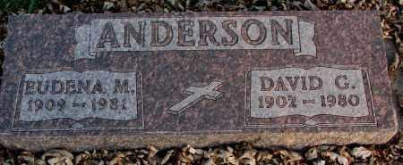 ANDERSON, DAVID G. - Burt County, Nebraska | DAVID G. ANDERSON - Nebraska Gravestone Photos