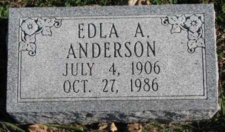ANDERSON, EDLA A. - Burt County, Nebraska | EDLA A. ANDERSON - Nebraska Gravestone Photos