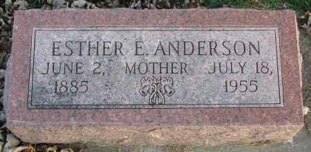 ANDERSON, ESTHER E. - Burt County, Nebraska | ESTHER E. ANDERSON - Nebraska Gravestone Photos