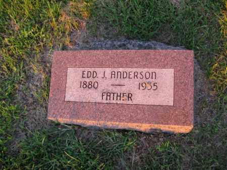 ANDERSON, EDD J. - Burt County, Nebraska | EDD J. ANDERSON - Nebraska Gravestone Photos