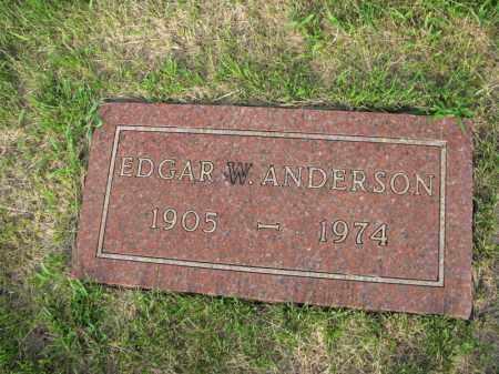 ANDERSON, EDGAR  W. - Burt County, Nebraska   EDGAR  W. ANDERSON - Nebraska Gravestone Photos