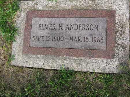 ANDERSON, ELMER N. - Burt County, Nebraska | ELMER N. ANDERSON - Nebraska Gravestone Photos
