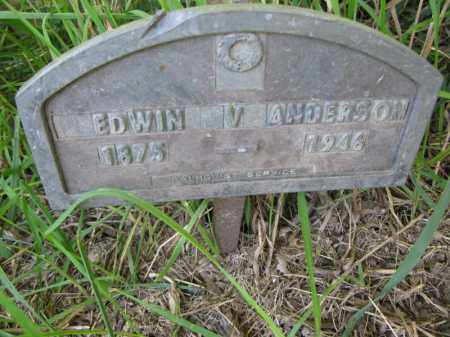 ANDERSON, EDWIN V. - Burt County, Nebraska | EDWIN V. ANDERSON - Nebraska Gravestone Photos