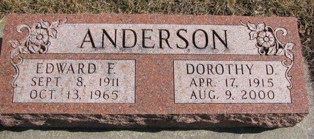 ANDERSON, DOROTHY D. - Burt County, Nebraska | DOROTHY D. ANDERSON - Nebraska Gravestone Photos