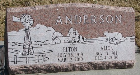 ANDERSON, ALICE R. - Burt County, Nebraska | ALICE R. ANDERSON - Nebraska Gravestone Photos