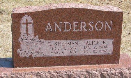 ANDERSON, E. SHERMAN - Burt County, Nebraska   E. SHERMAN ANDERSON - Nebraska Gravestone Photos