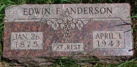 ANDERSON, EDWIN F. - Burt County, Nebraska | EDWIN F. ANDERSON - Nebraska Gravestone Photos
