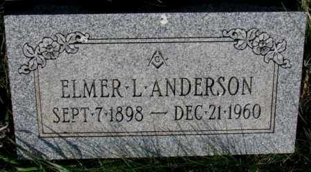 ANDERSON, ELMER L. - Burt County, Nebraska   ELMER L. ANDERSON - Nebraska Gravestone Photos