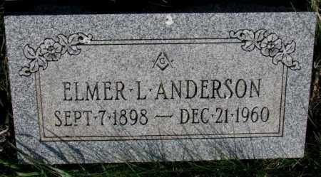 ANDERSON, ELMER L. - Burt County, Nebraska | ELMER L. ANDERSON - Nebraska Gravestone Photos
