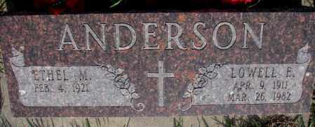 ANDERSON, LOWELL E. - Burt County, Nebraska | LOWELL E. ANDERSON - Nebraska Gravestone Photos