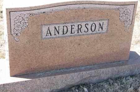 ANDERSON, FAMILY STONE - Burt County, Nebraska | FAMILY STONE ANDERSON - Nebraska Gravestone Photos