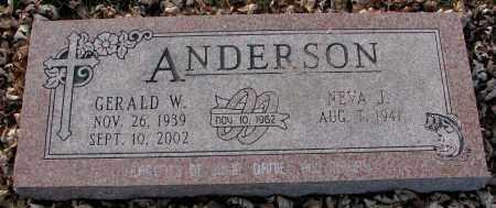 ANDERSON, GERALD W. - Burt County, Nebraska | GERALD W. ANDERSON - Nebraska Gravestone Photos