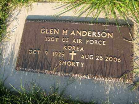 ANDERSON, GLEN H. (SHORTY) - Burt County, Nebraska   GLEN H. (SHORTY) ANDERSON - Nebraska Gravestone Photos