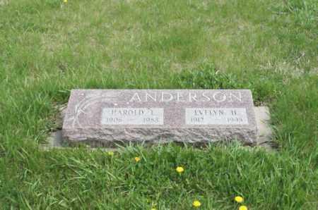 ANDERSON, HAROLD L. - Burt County, Nebraska   HAROLD L. ANDERSON - Nebraska Gravestone Photos
