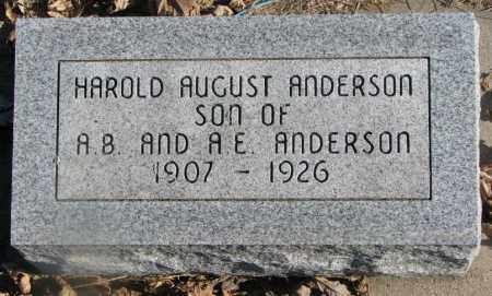 ANDERSON, HAROLD AUGUST - Burt County, Nebraska | HAROLD AUGUST ANDERSON - Nebraska Gravestone Photos