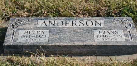 ANDERSON, HULDA - Burt County, Nebraska   HULDA ANDERSON - Nebraska Gravestone Photos