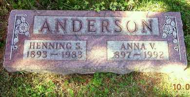ANDERSON, ANNA V. - Burt County, Nebraska | ANNA V. ANDERSON - Nebraska Gravestone Photos