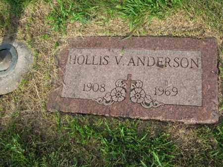ANDERSON, HOLLIS V. - Burt County, Nebraska | HOLLIS V. ANDERSON - Nebraska Gravestone Photos