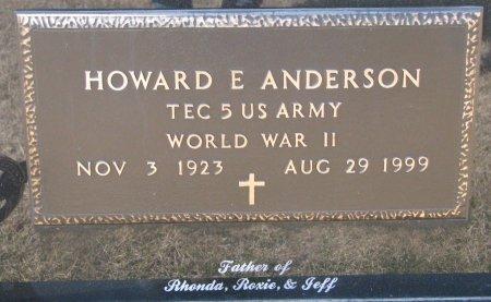 ANDERSON, HOWARD E. (MILITARY) - Burt County, Nebraska | HOWARD E. (MILITARY) ANDERSON - Nebraska Gravestone Photos