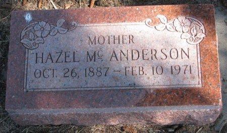 ANDERSON, HAZEL MC. - Burt County, Nebraska   HAZEL MC. ANDERSON - Nebraska Gravestone Photos