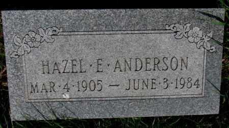 ANDERSON, HAZEL E. - Burt County, Nebraska | HAZEL E. ANDERSON - Nebraska Gravestone Photos