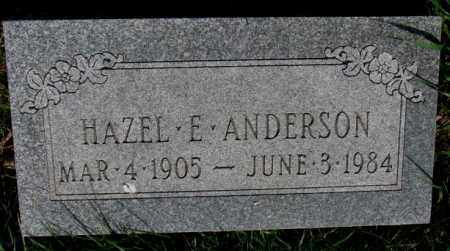 ANDERSON, HAZEL E. - Burt County, Nebraska   HAZEL E. ANDERSON - Nebraska Gravestone Photos