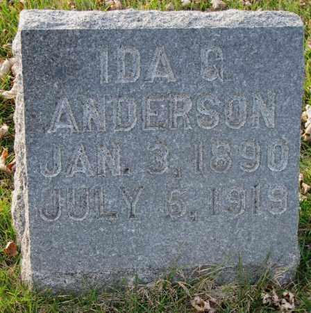ANDERSON, IDA G. - Burt County, Nebraska | IDA G. ANDERSON - Nebraska Gravestone Photos