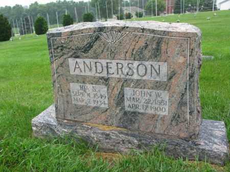 ANDERSON, IDA S. - Burt County, Nebraska | IDA S. ANDERSON - Nebraska Gravestone Photos