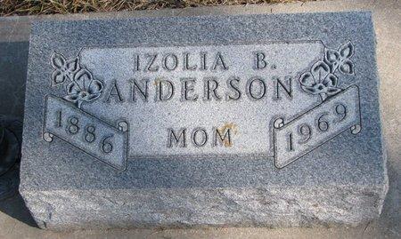 ANDERSON, IZOLIA B. - Burt County, Nebraska | IZOLIA B. ANDERSON - Nebraska Gravestone Photos