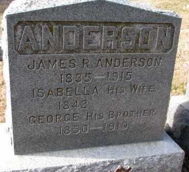 ANDERSON, JAMES R. - Burt County, Nebraska | JAMES R. ANDERSON - Nebraska Gravestone Photos