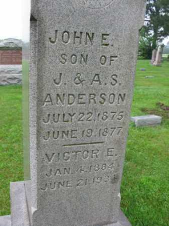 ANDERSON, VICTOR E. - Burt County, Nebraska | VICTOR E. ANDERSON - Nebraska Gravestone Photos