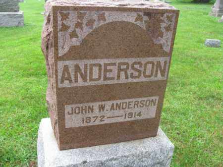 ANDERSON, JOHN W. - Burt County, Nebraska | JOHN W. ANDERSON - Nebraska Gravestone Photos