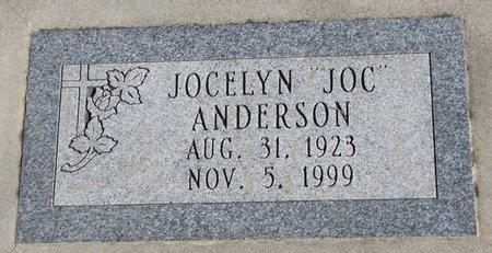 "ANDERSON, JOCELYN ""JOC"" - Burt County, Nebraska | JOCELYN ""JOC"" ANDERSON - Nebraska Gravestone Photos"