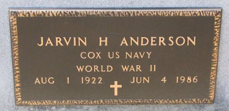 ANDERSON, JARVIN H. (MILITARY) - Burt County, Nebraska   JARVIN H. (MILITARY) ANDERSON - Nebraska Gravestone Photos