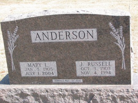 ANDERSON, MARY L. - Burt County, Nebraska   MARY L. ANDERSON - Nebraska Gravestone Photos