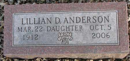 ANDERSON, LILLIAN D. - Burt County, Nebraska | LILLIAN D. ANDERSON - Nebraska Gravestone Photos