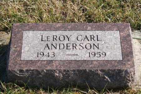 ANDERSON, LEROY CARL - Burt County, Nebraska   LEROY CARL ANDERSON - Nebraska Gravestone Photos