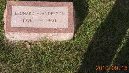 ANDERSON, LEONARD - Burt County, Nebraska | LEONARD ANDERSON - Nebraska Gravestone Photos