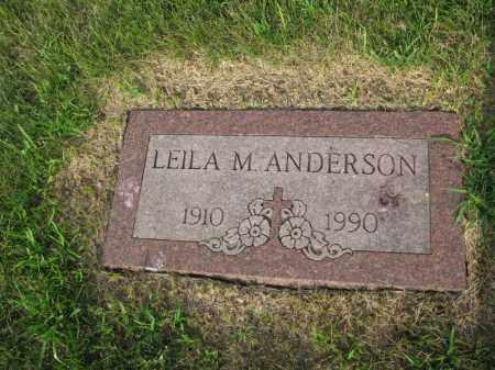 ANDERSON, LEILA M. - Burt County, Nebraska | LEILA M. ANDERSON - Nebraska Gravestone Photos
