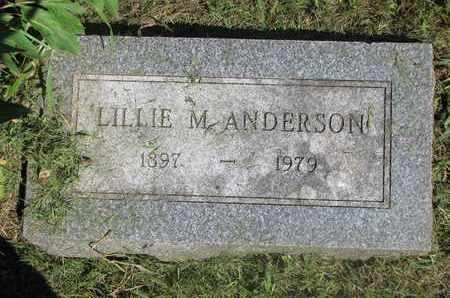 ANDERSON, LILLIE M. - Burt County, Nebraska   LILLIE M. ANDERSON - Nebraska Gravestone Photos