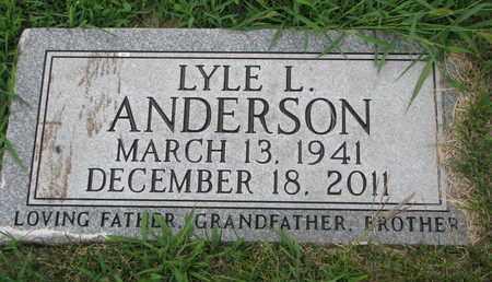 ANDERSON, LYLE L. - Burt County, Nebraska | LYLE L. ANDERSON - Nebraska Gravestone Photos