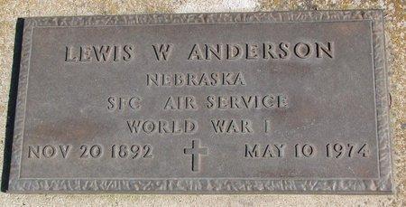 ANDERSON, LEWIS W. - Burt County, Nebraska | LEWIS W. ANDERSON - Nebraska Gravestone Photos
