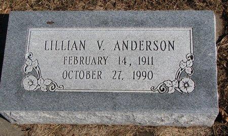 ANDERSON, LILLIAN V. - Burt County, Nebraska | LILLIAN V. ANDERSON - Nebraska Gravestone Photos