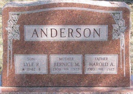 ANDERSON, HAROLD A. - Burt County, Nebraska | HAROLD A. ANDERSON - Nebraska Gravestone Photos